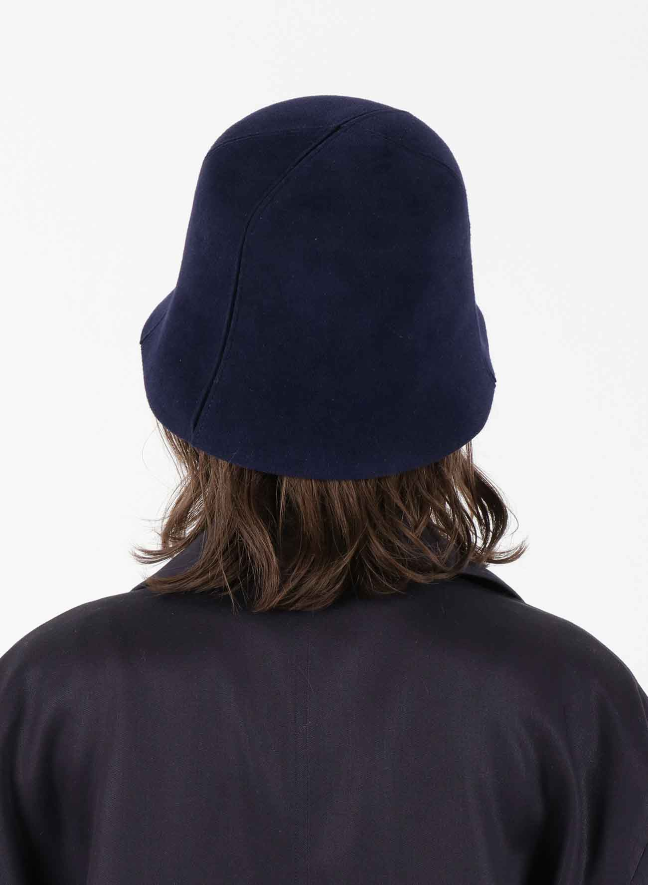 RABBIT FUR VELOUR PATCHING BUCKET HAT