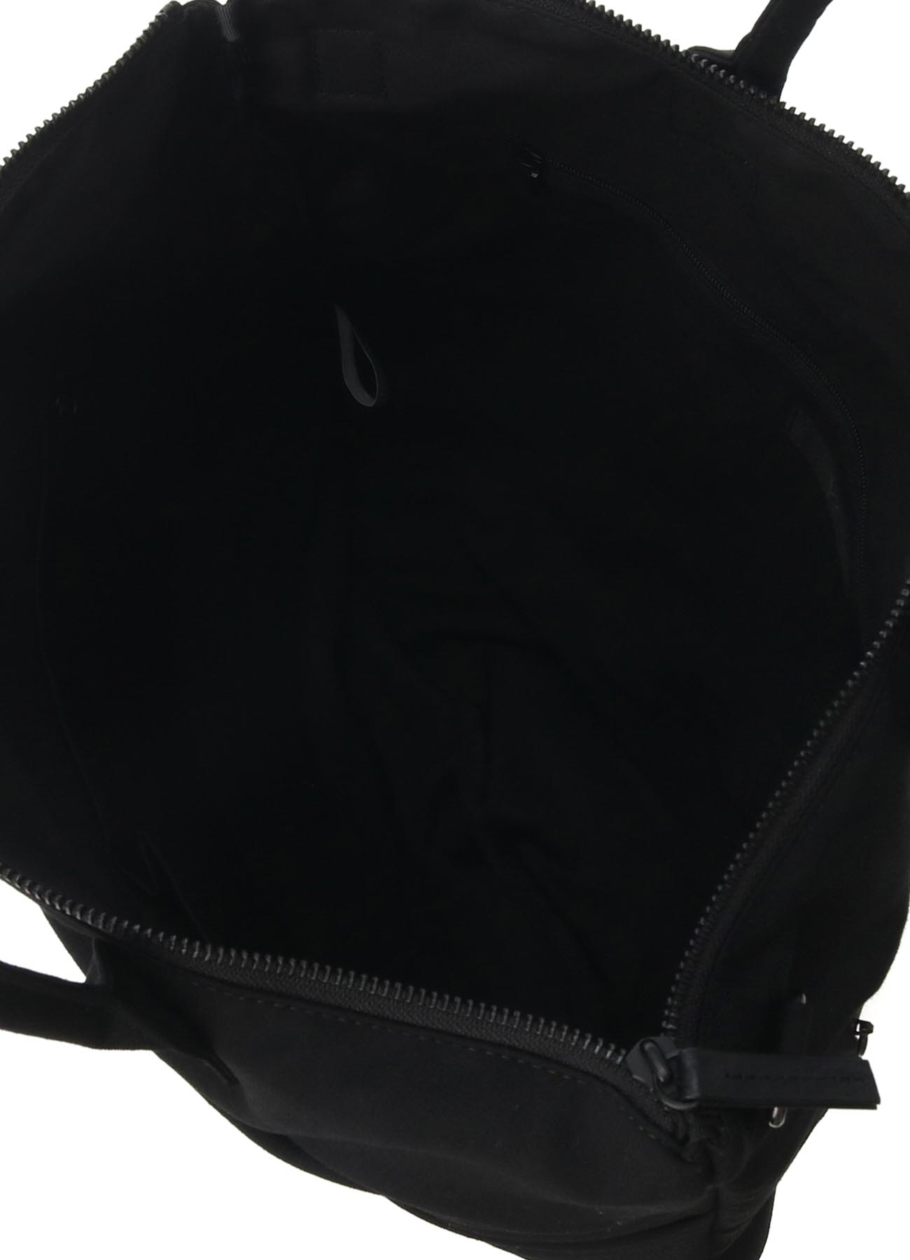 WOOL GABARDINE PANELED DRAPE BAG