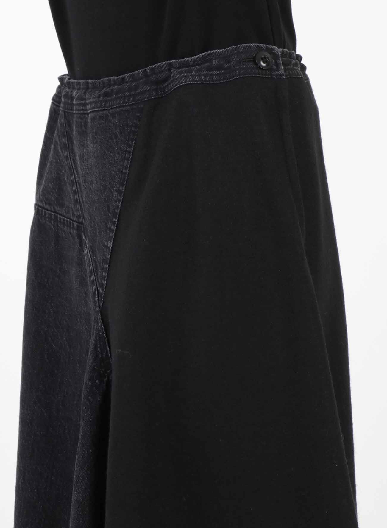 COTTON WOOL TRINGALE FLARE SKIRT