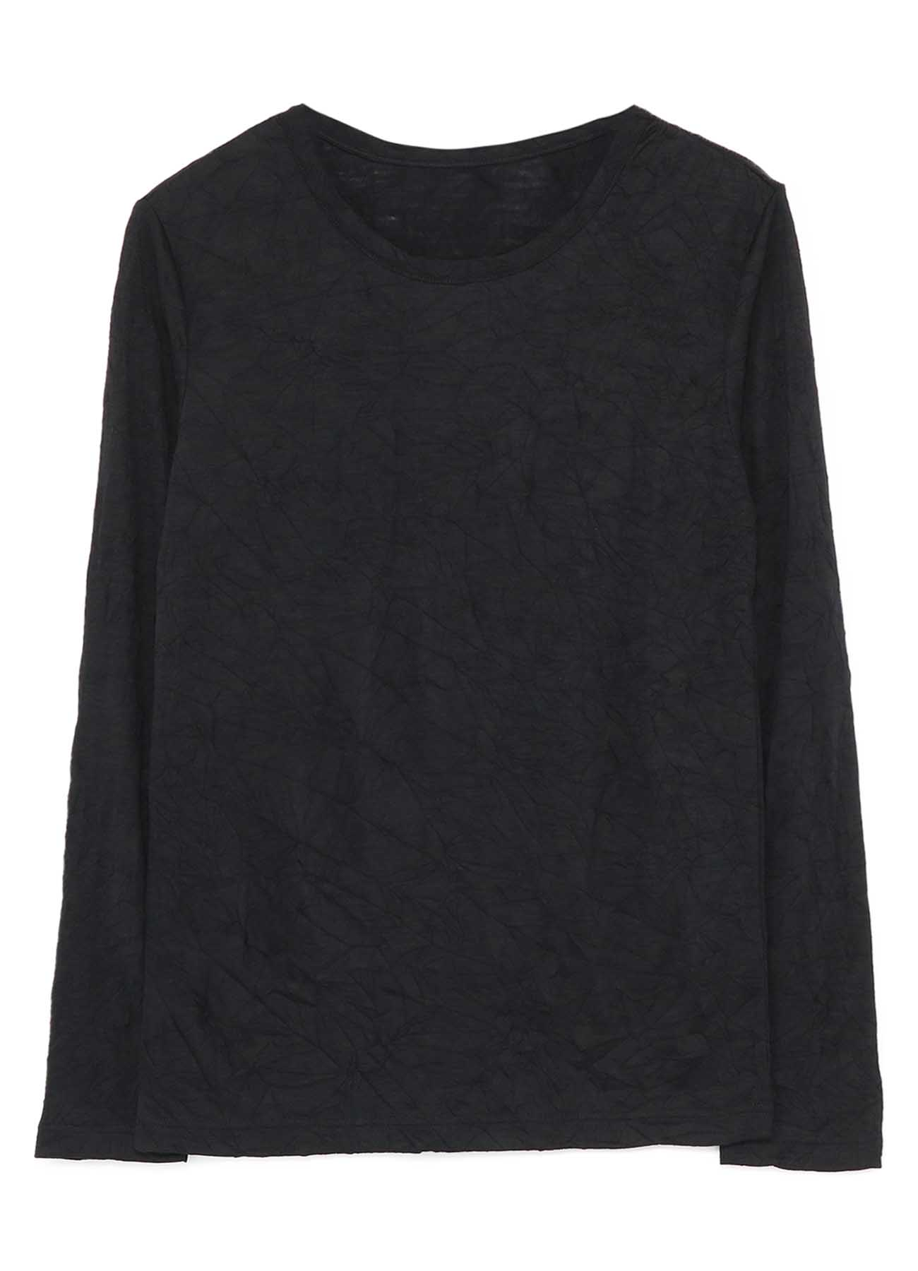 PLAIN STICH WRINKLE ROUND NECK LONG SLEEVE T