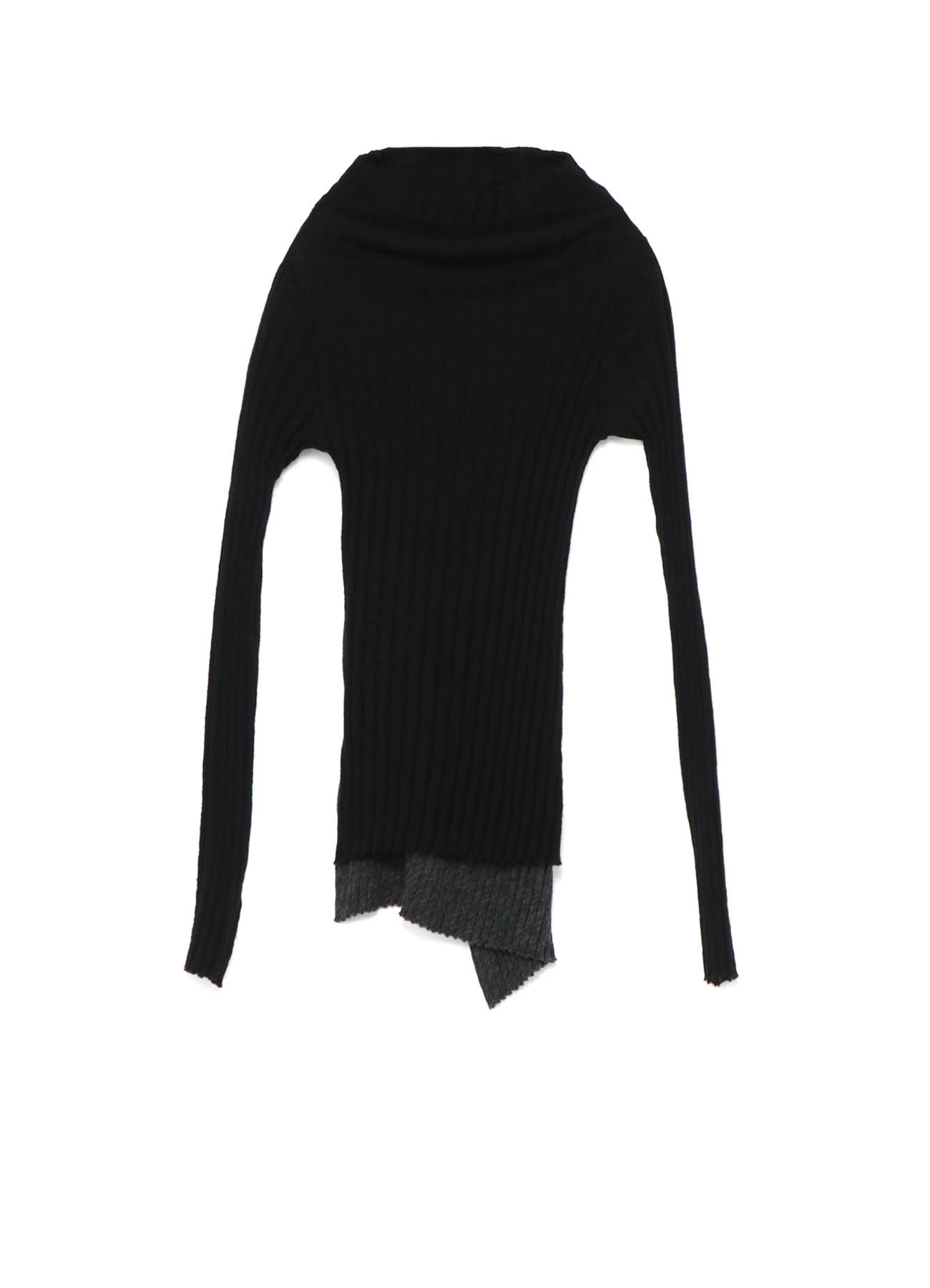 GAUZE WIDE MIX UP OFF NECK 2 LAYERS T