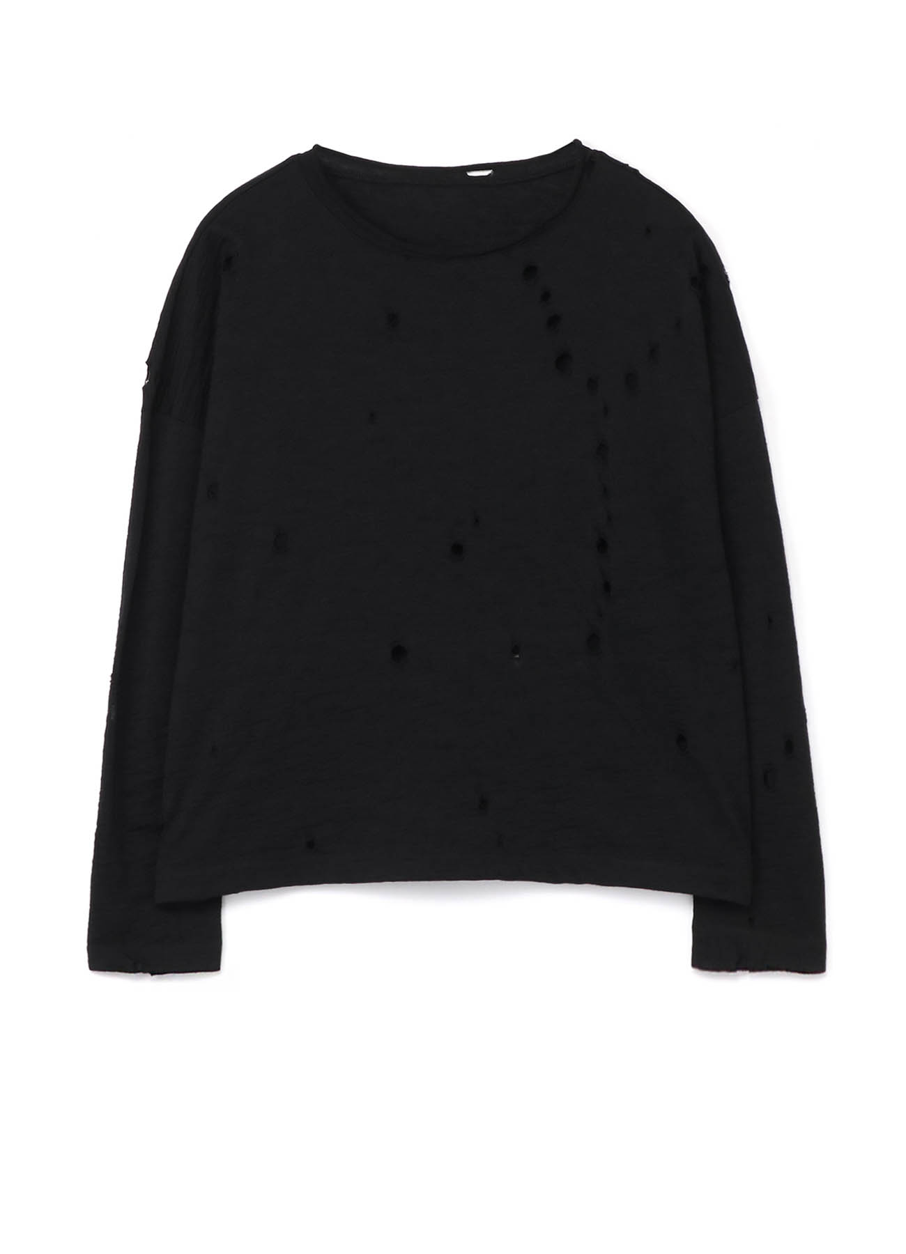 PERFORATED Y PRINT PLAIN STICH ROUND NECK BIG PULLOVER
