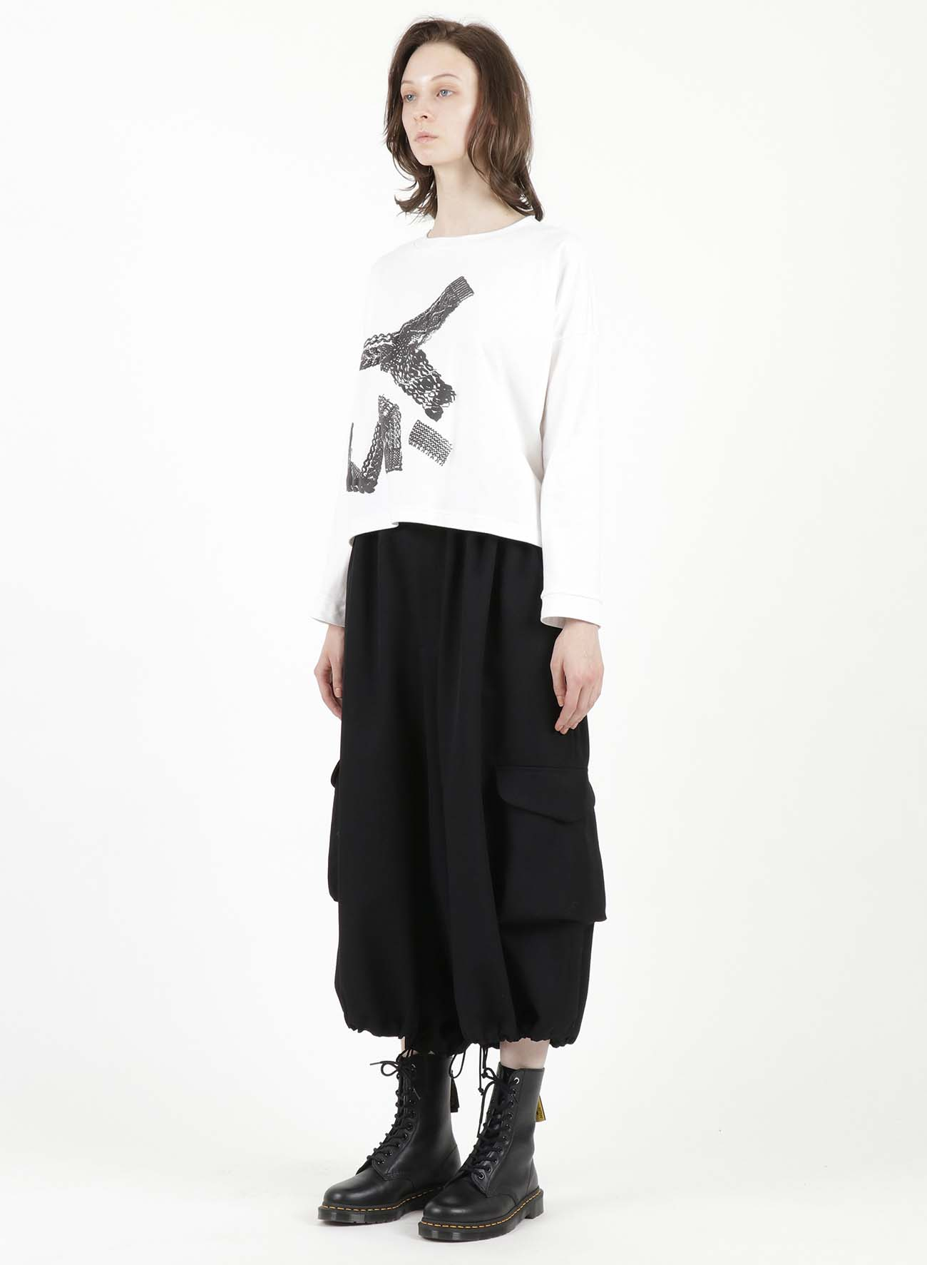 SMOOTH KNIT Y's FOAM PRINT BAGGY PULLOVER