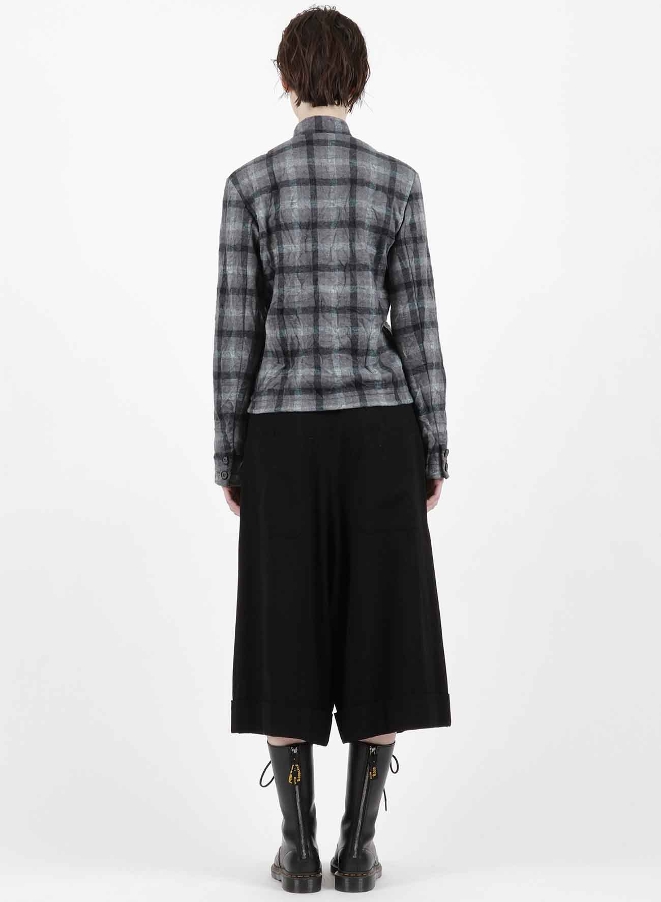 SHAGGY CHECK JQ WRINKLE COOK COAT STYLE JACKET