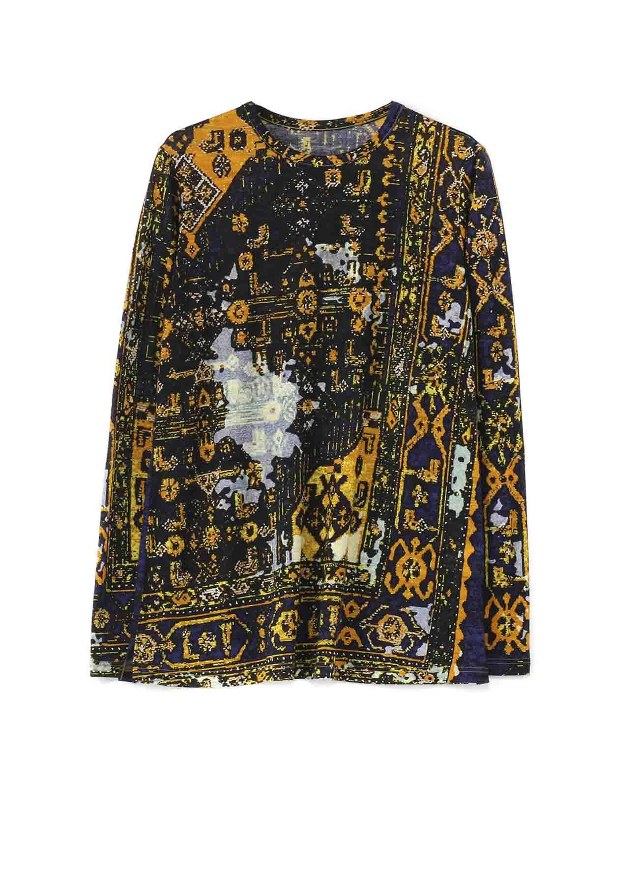 数码印刷地毯图案长袖T恤·宽松款