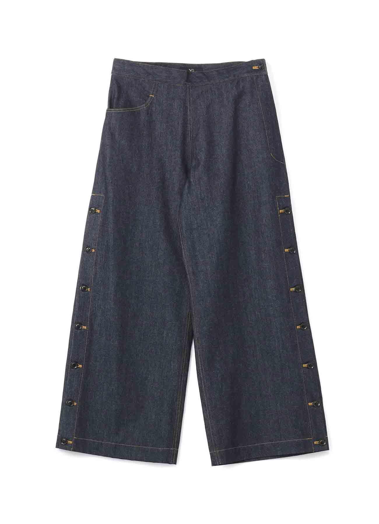 10盎司牛仔侧扣宽裤